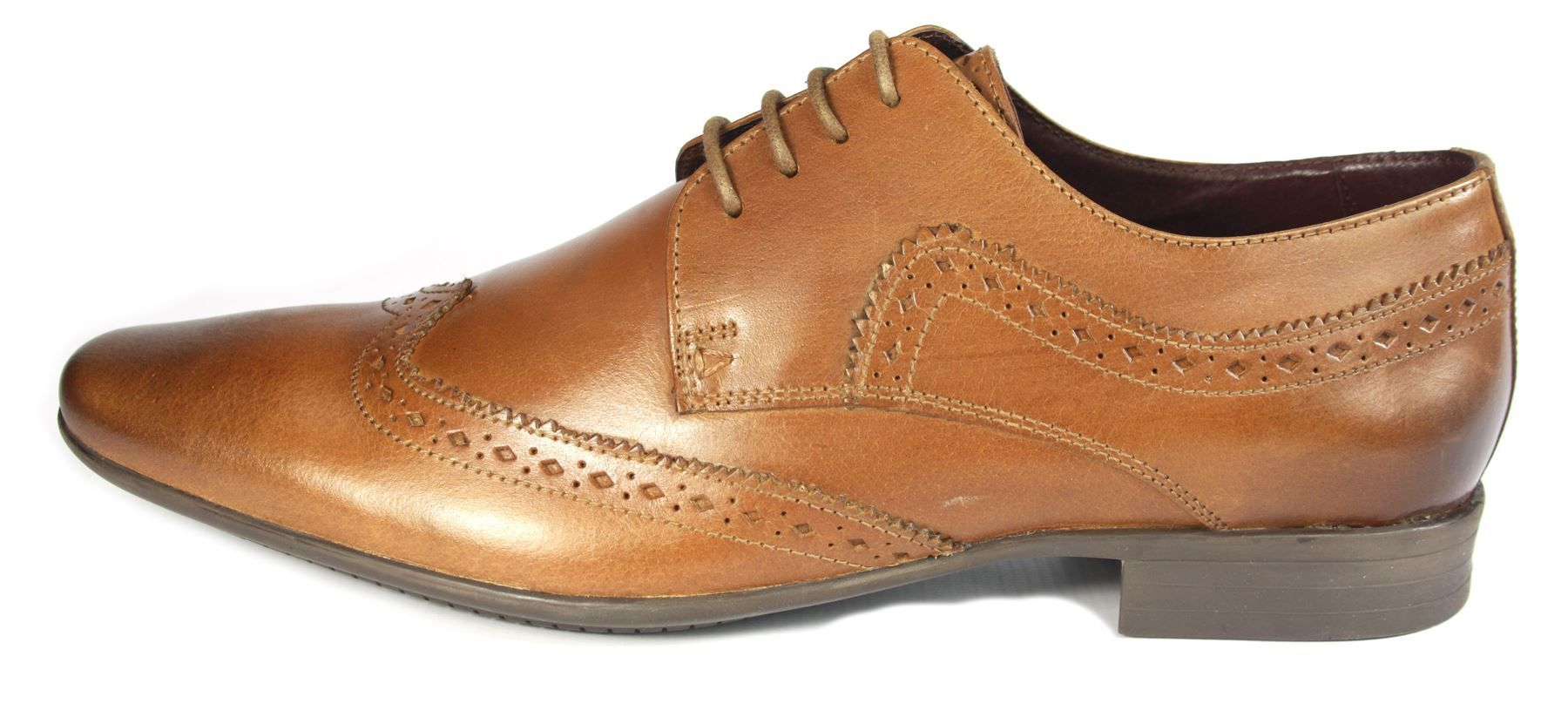Mens Tan Pointed Shoes